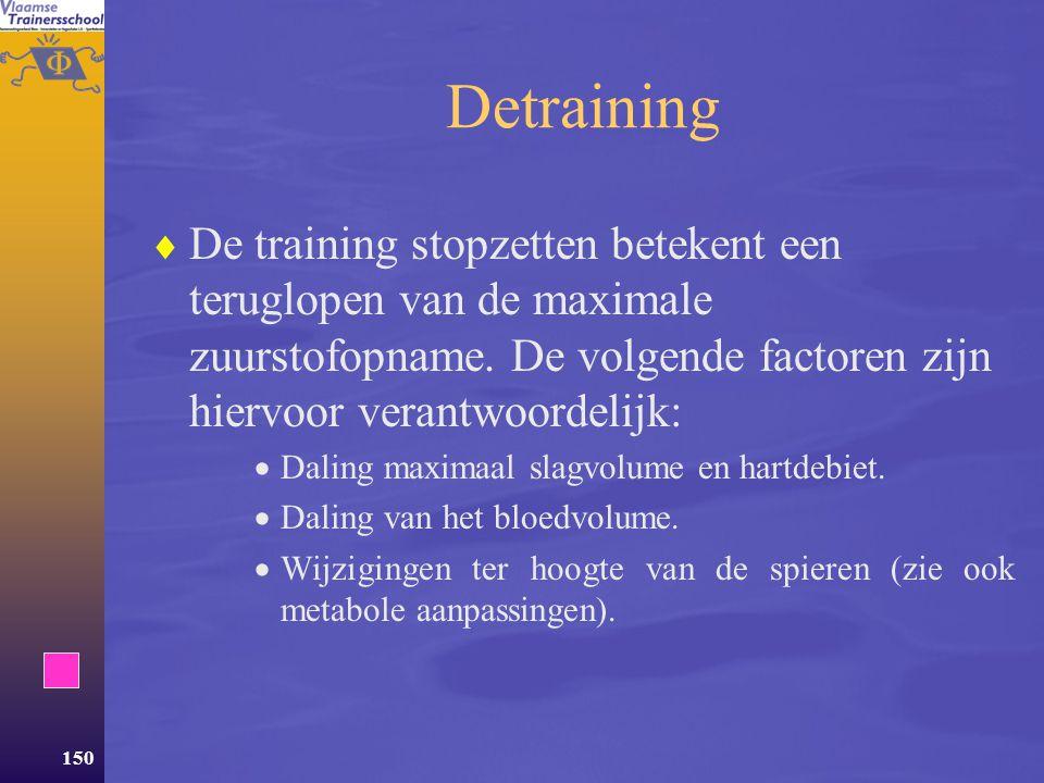 149 Invloed van krachttraining  Krachttraining heeft een minimale invloed op de aanpassingen binnen het CV systeem.