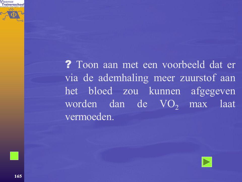 """164  Besluit Niettegenstaande men bij zware inspanningen het gevoel heeft """"buiten adem"""" te geraken, blijkt dat de normale longfunctie GEEN LIMITEREND"""
