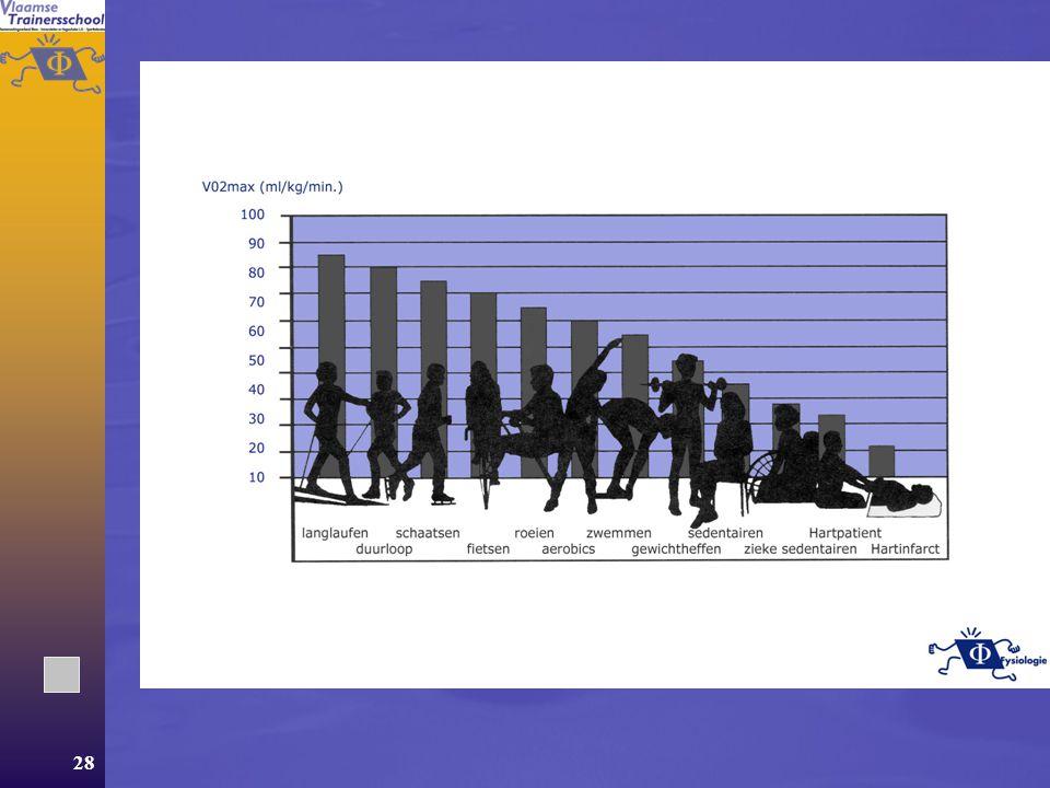 27 VO 2 max  Erfelijkheid  Training  Geslacht  Leeftijd  Type oefening  lichaamssamenstelling