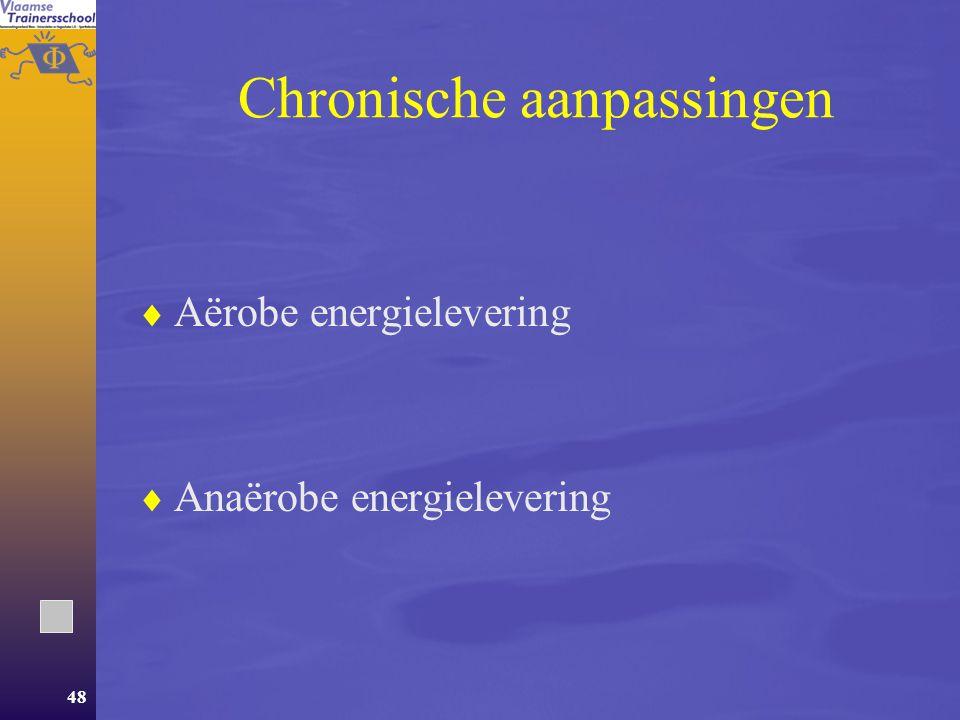 47 Aanpassingen  Acute aanpassingen  Chronische aanpassingen