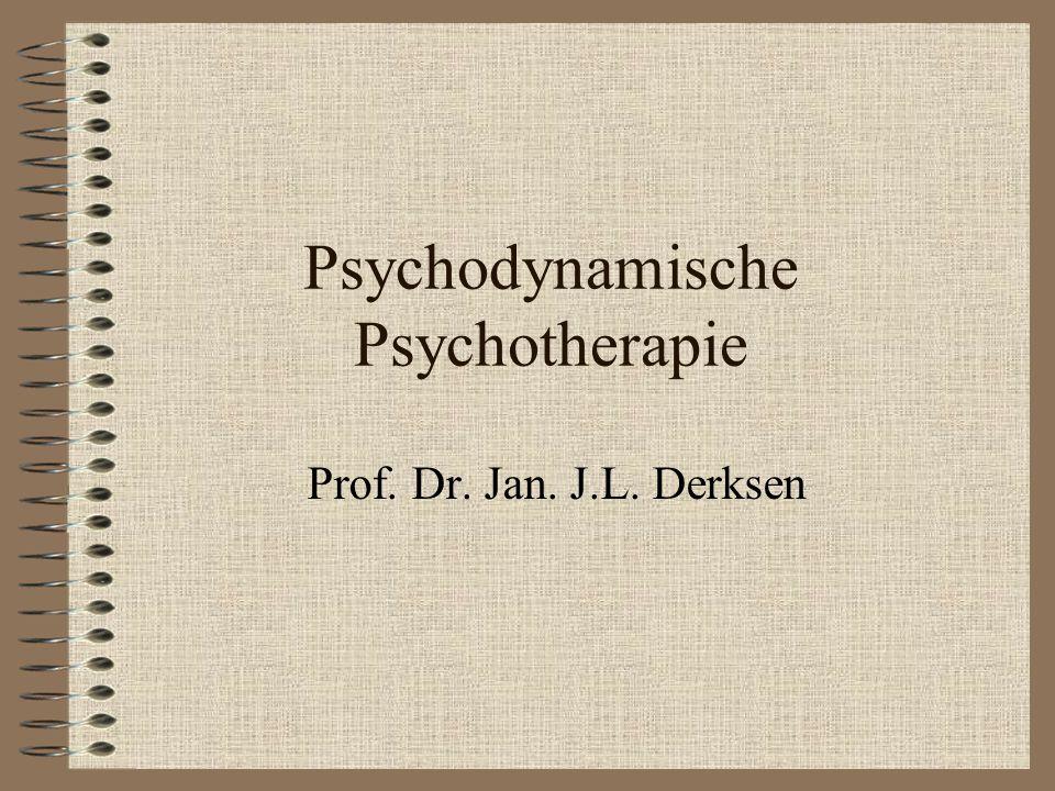 Psychodynamische Psychotherapie Prof. Dr. Jan. J.L. Derksen