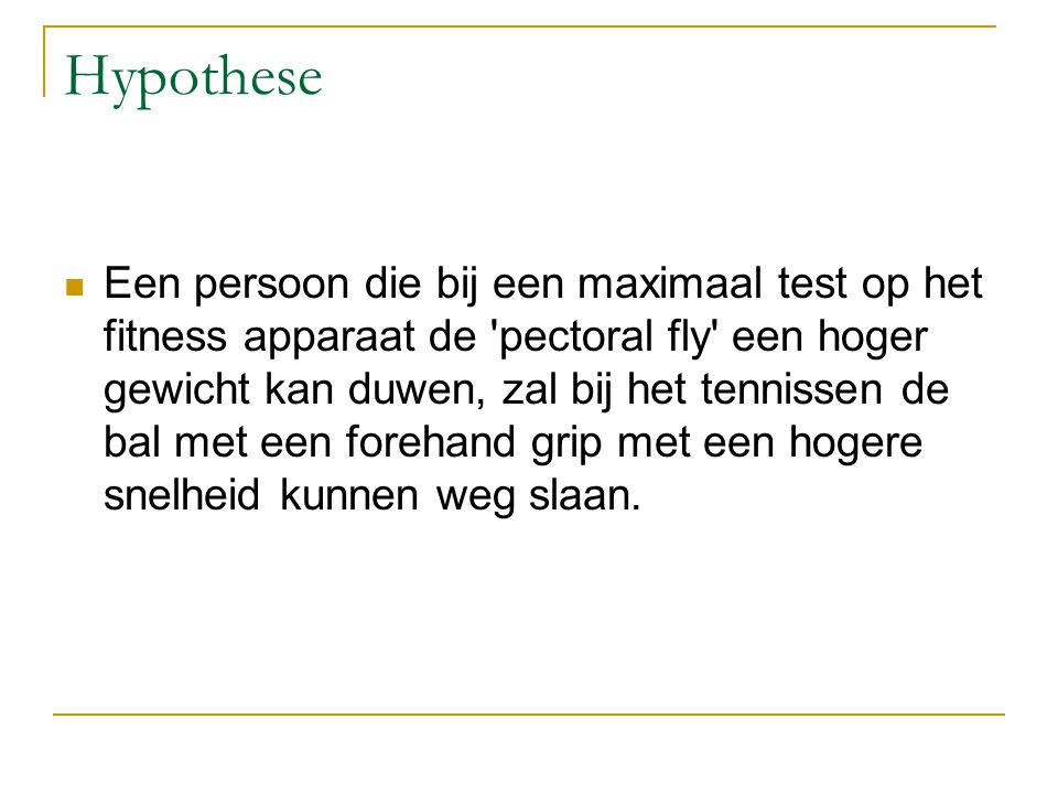 Protocol  Opstelling 