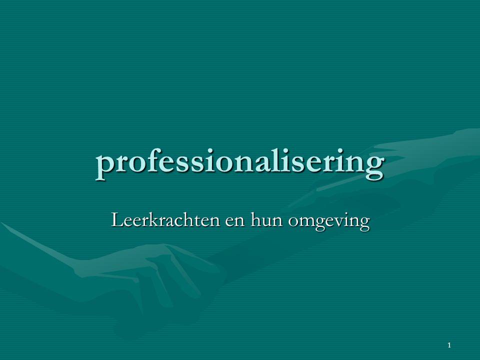 1 professionalisering Leerkrachten en hun omgeving