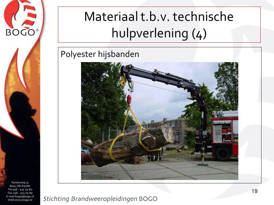 Materiaal t.b.v. technische hulpverlening (4) Polyester hijsbanden 19