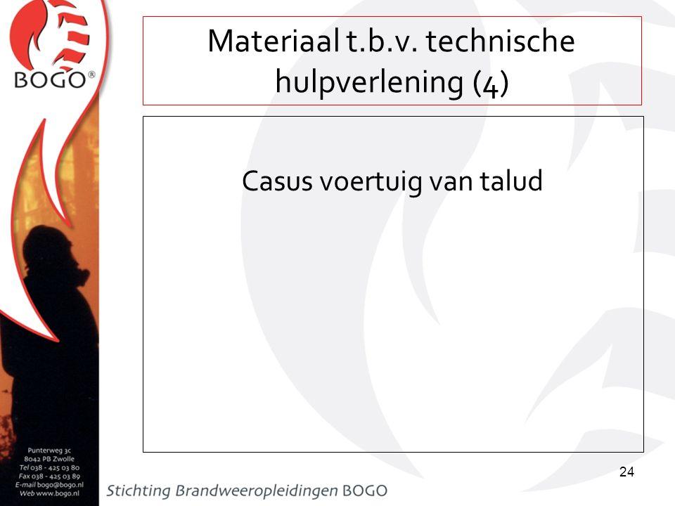 Materiaal t.b.v. technische hulpverlening (4) Casus voertuig van talud 24