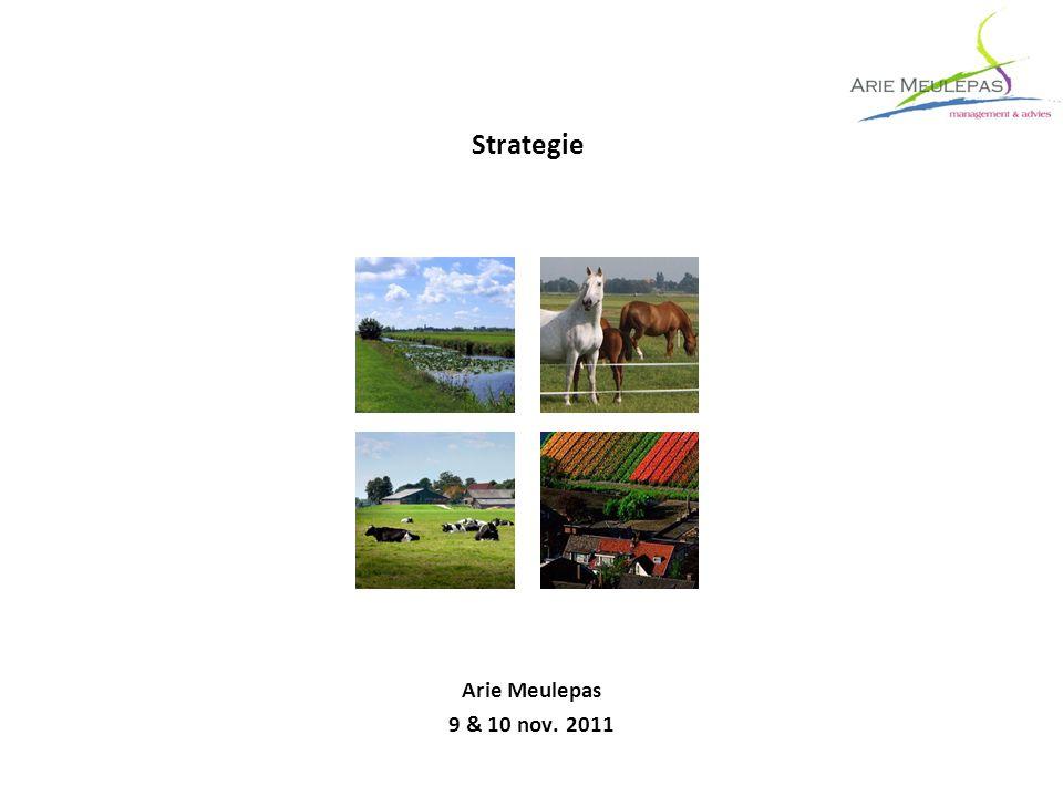 Strategie Arie Meulepas 9 & 10 nov. 2011