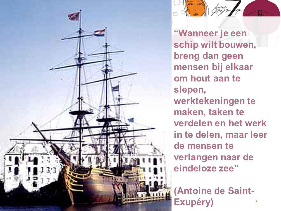 © Twynstra Gudde 24-9-2010 Burgers aan het stuur 3 Wanneer je een schip wilt bouwen, breng dan geen mensen bij elkaar om hout aan te slepen, werktekeningen te maken, taken te verdelen en het werk in te delen, maar leer de mensen te verlangen naar de eindeloze zee (Antoine de Saint- Exupéry)