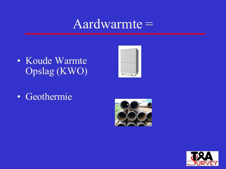 Aardwarmte = Koude Warmte Opslag (KWO) Geothermie