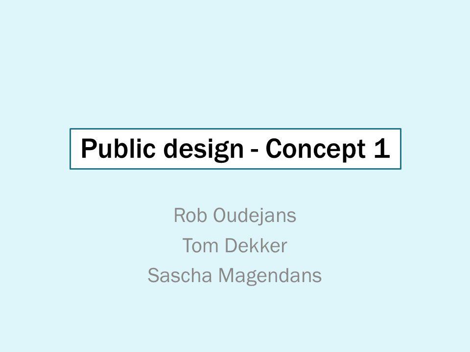Public design - Concept 1 Rob Oudejans Tom Dekker Sascha Magendans