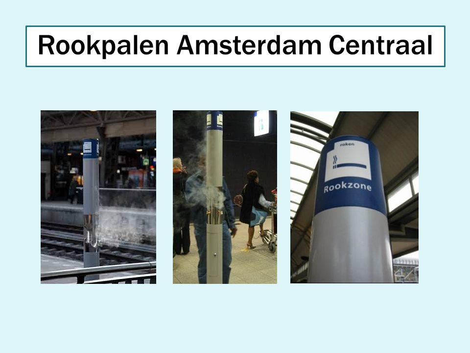 Rookpalen Amsterdam Centraal