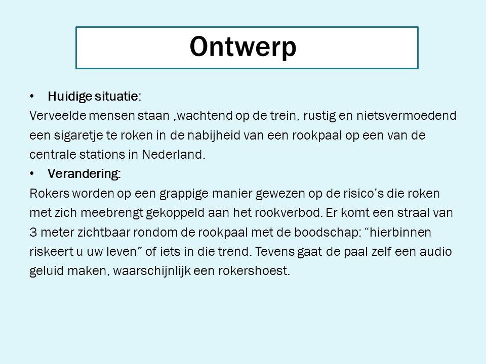 Realisatie: - Benodigdheden - geel & wit stoepkrijt - Audioplayer + Speaker - videocamera Kosten Niet noemenswaardig Locatie Amsterdam CS Ontwerp