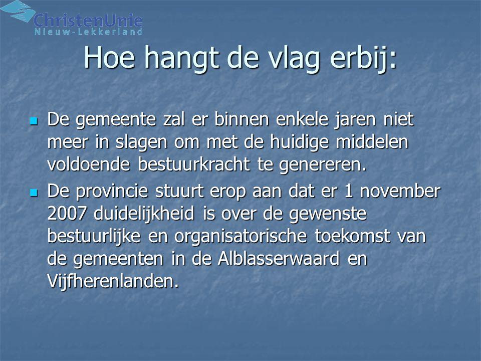 Financiële positie Alblasserdam Financiële positie van Alblasserdam is op dit moment ongunstig, toch scoort herindeling met Alblasserdam een plus vanwege de aansluiting met de regio Drechtsteden.