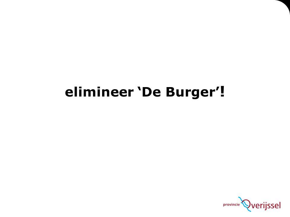 elimineer 'De Burger' !