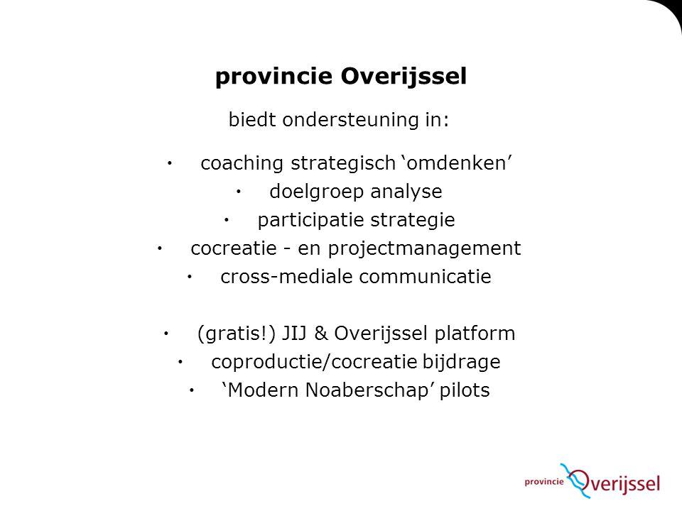 biedt ondersteuning in:  coaching strategisch 'omdenken'  doelgroep analyse  participatie strategie  cocreatie - en projectmanagement  cross-medi