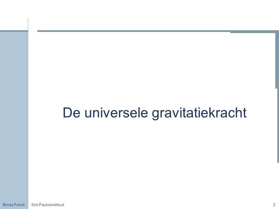 Broos Fonck Sint-Paulusinstituut2 De universele gravitatiekracht