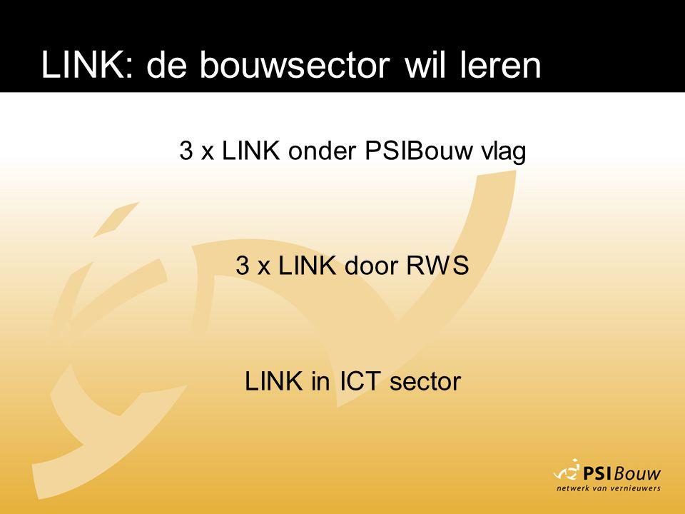 LINK – De bouwsector leert 3 x LINK onder PSIBouw vlag 3 x LINK door RWS LINK in ICT sector LINK: de bouwsector wil leren