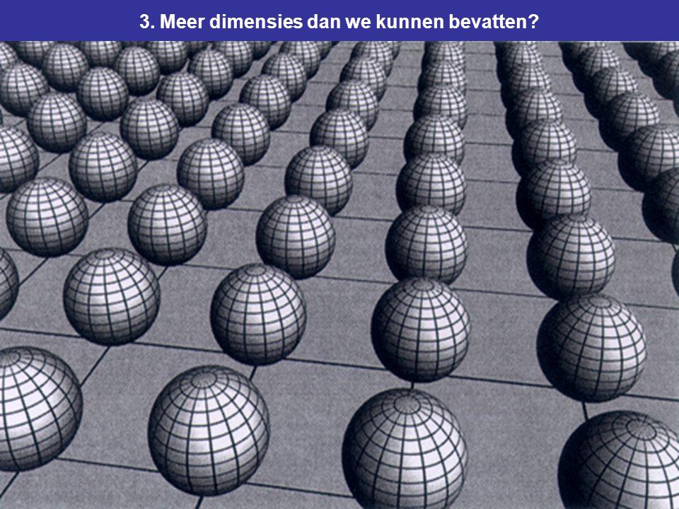 65 3. Meer dimensies dan we kunnen bevatten?