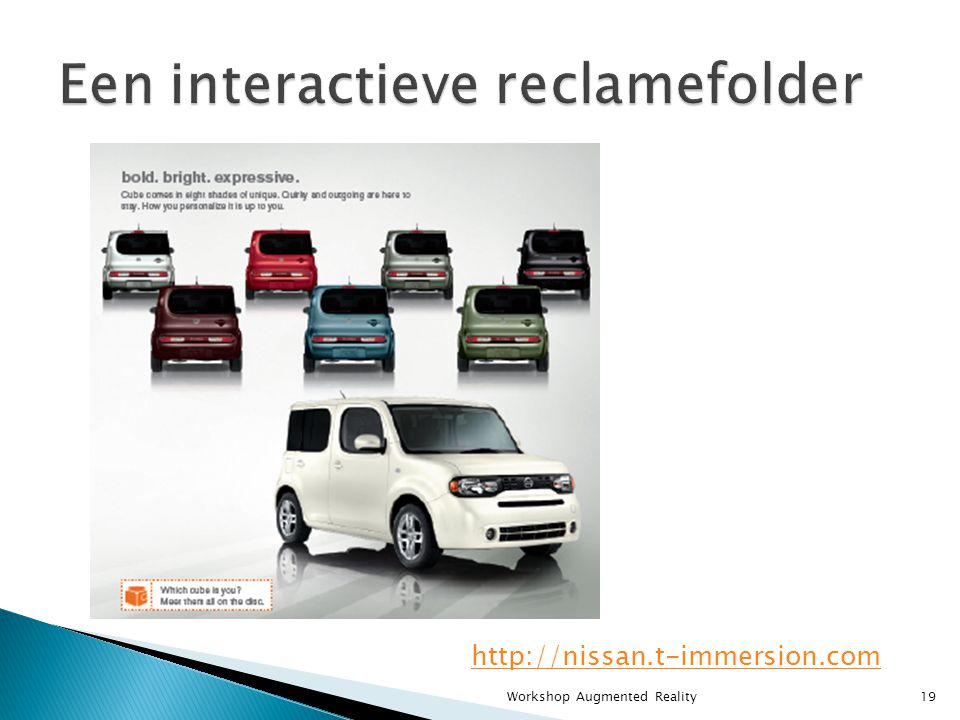 http://nissan.t-immersion.com 19Workshop Augmented Reality