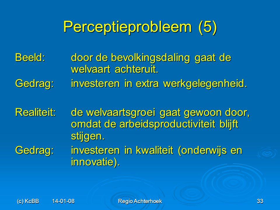 (c) KcBB 14-01-08Regio Achterhoek33 Perceptieprobleem (5) Beeld:door de bevolkingsdaling gaat de welvaart achteruit. Gedrag:investeren in extra werkge