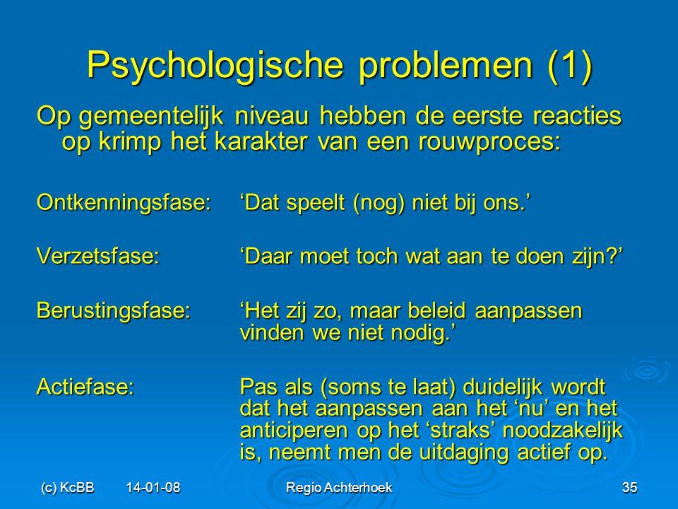 (c) KcBB 14-01-08Regio Achterhoek35 Psychologische problemen (1) Op gemeentelijk niveau hebben de eerste reacties op krimp het karakter van een rouwpr