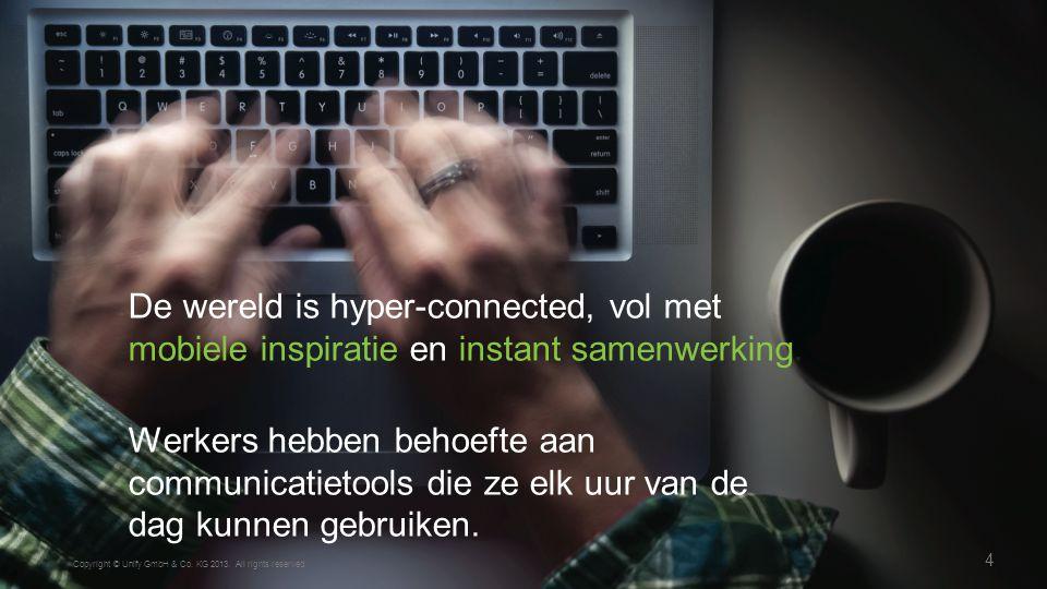 Werkt in virtuele teams Business is mobiel 5 Copyright © Unify GmbH & Co.