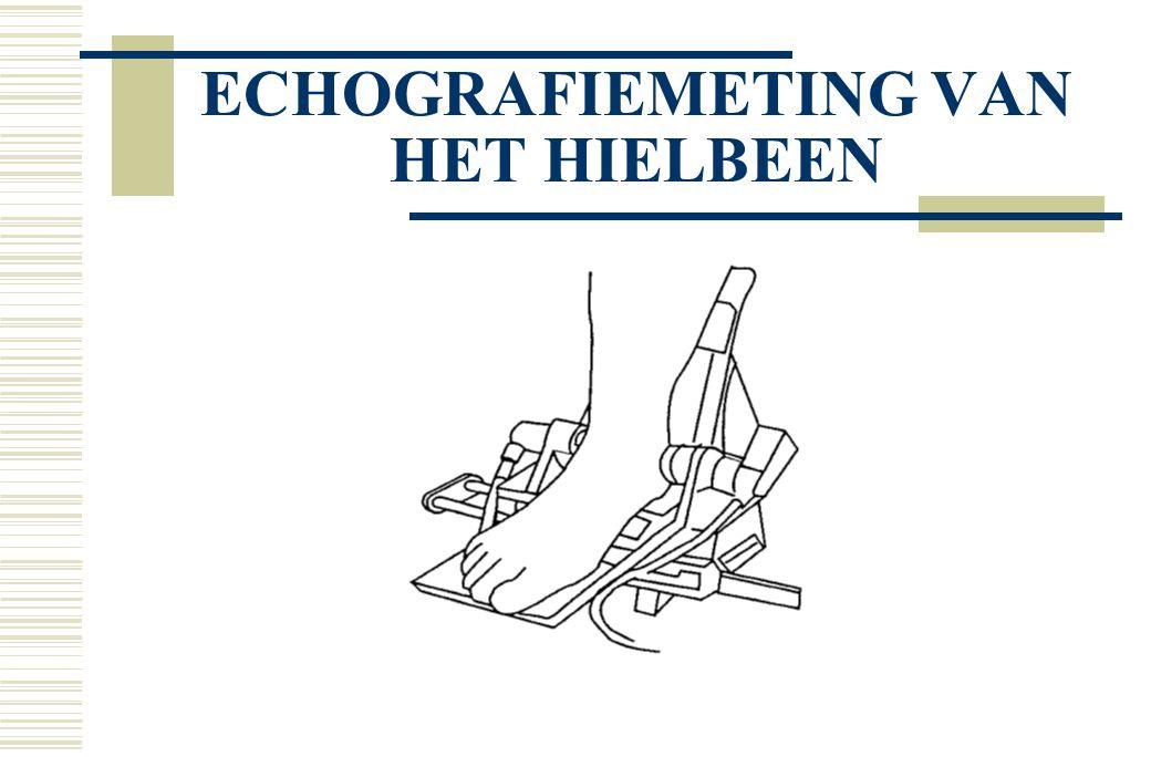 ECHOGRAFIEMETING VAN HET HIELBEEN