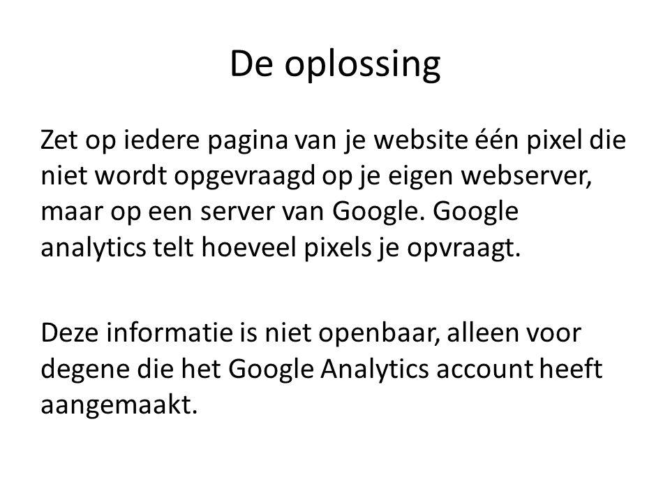 Sessies Google analytics telt dus het aantal pagina's dat wordt bezocht.