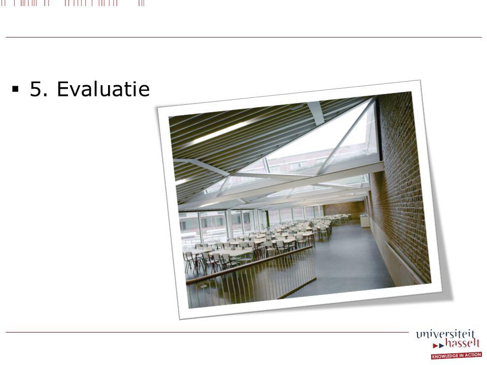  5. Evaluatie