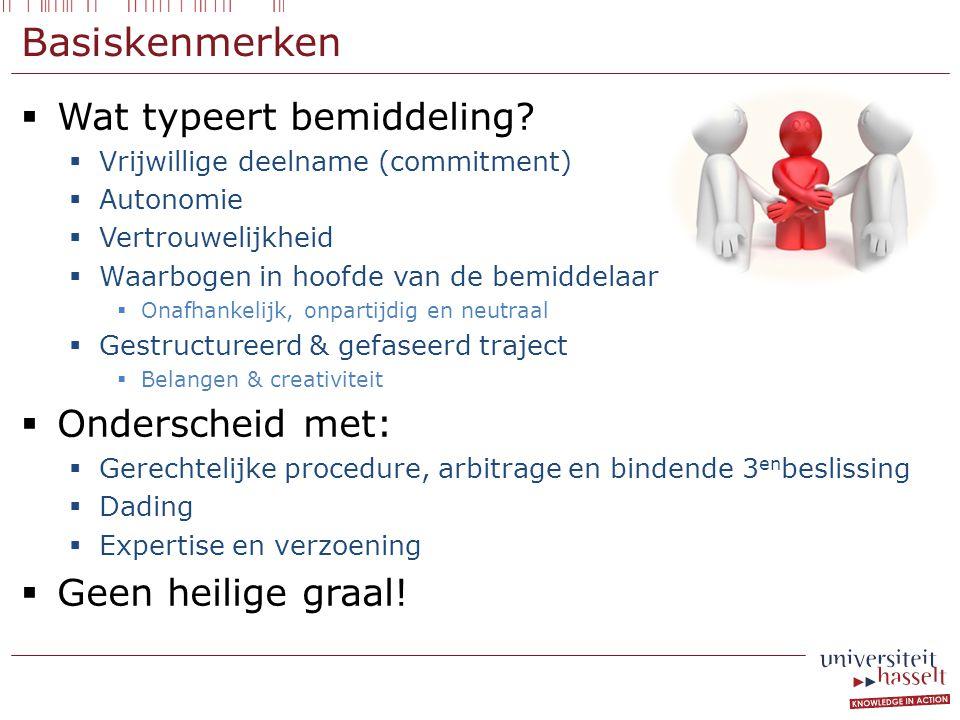 Basiskenmerken  Wat typeert bemiddeling.