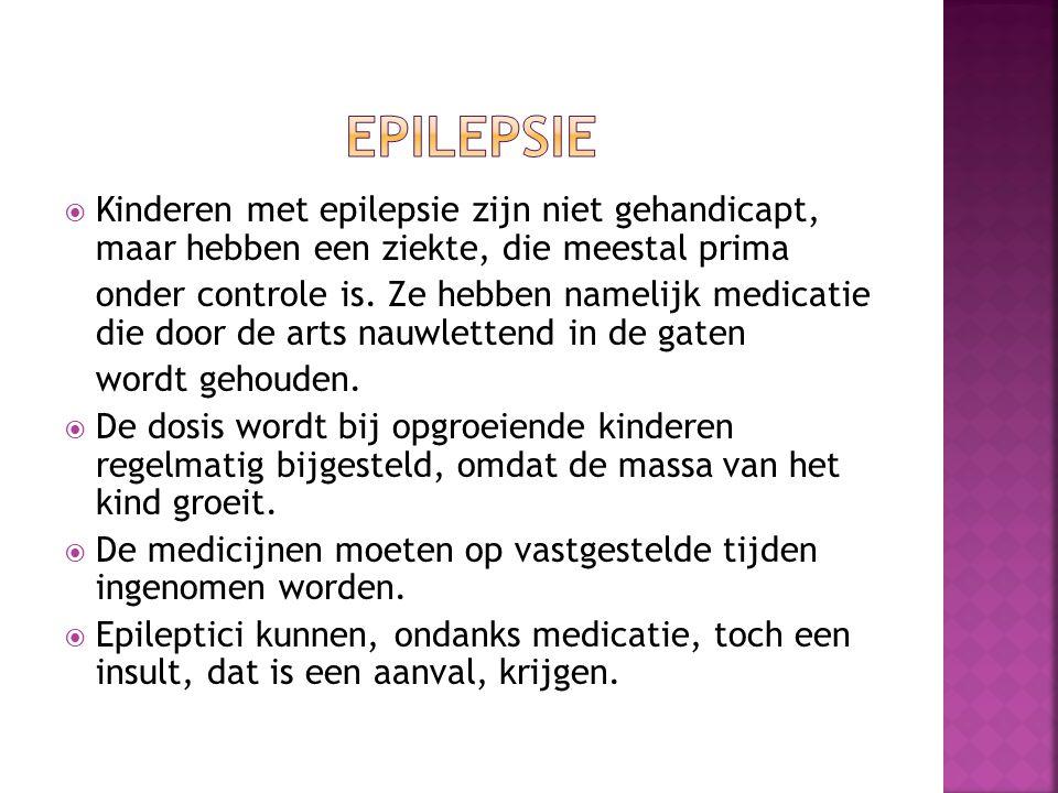  Kinderen met epilepsie zijn niet gehandicapt, maar hebben een ziekte, die meestal prima onder controle is.