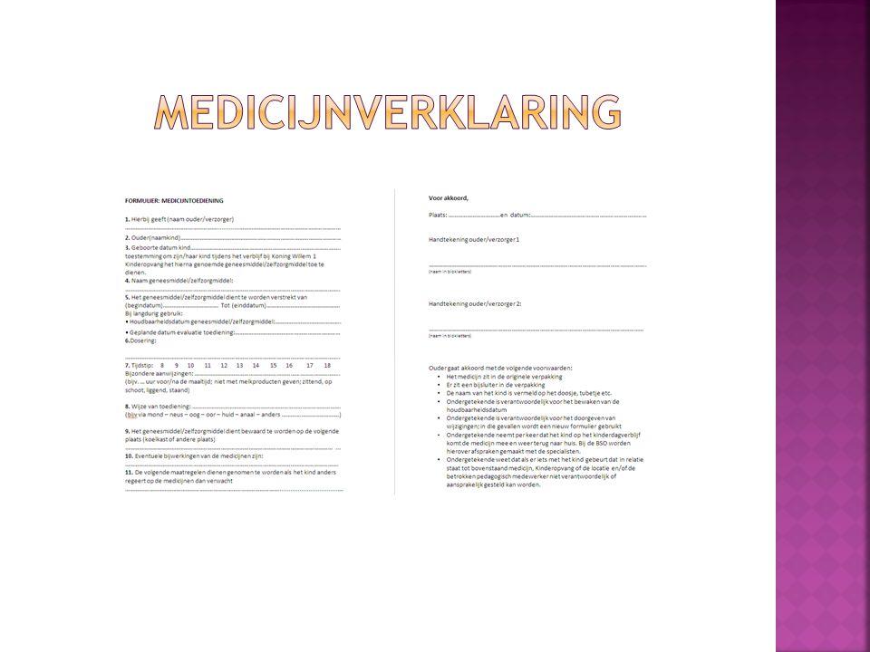  Over het algemeen zijn kinderen of pubers zeer vertrouwd met hun eigen medicijngebruik.