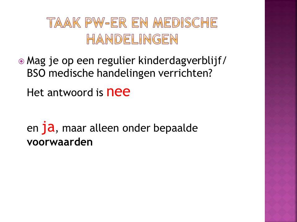  Bij onvoldoende bevoegd en/of bekwaam personeel, worden medische handelingen uitbesteed aan bijvoorbeeld Thuiszorg.