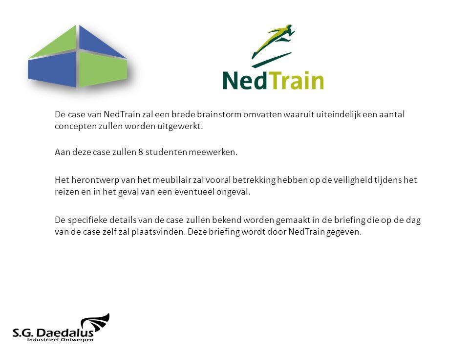 De case van NedTrain zal een brede brainstorm omvatten waaruit uiteindelijk een aantal concepten zullen worden uitgewerkt.