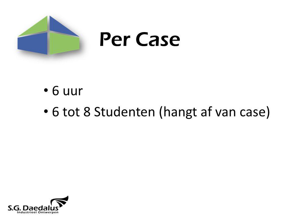 Per Case 6 uur 6 tot 8 Studenten (hangt af van case)