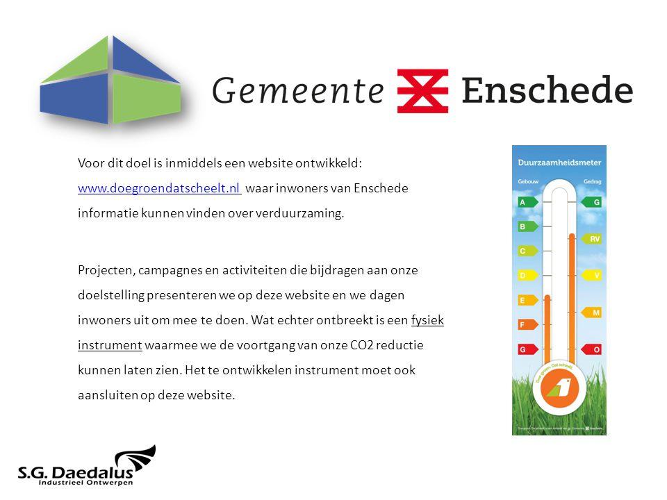 Voor dit doel is inmiddels een website ontwikkeld: www.doegroendatscheelt.nl waar inwoners van Enschede informatie kunnen vinden over verduurzaming.
