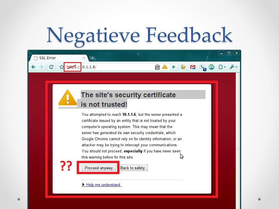 Negatieve Feedback
