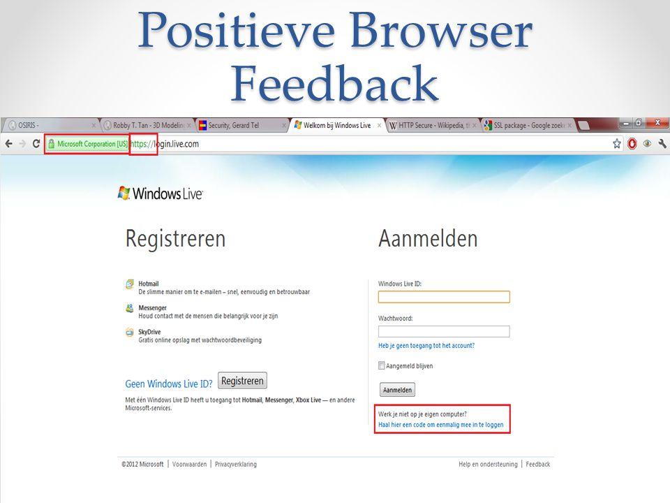 Positieve Browser Feedback