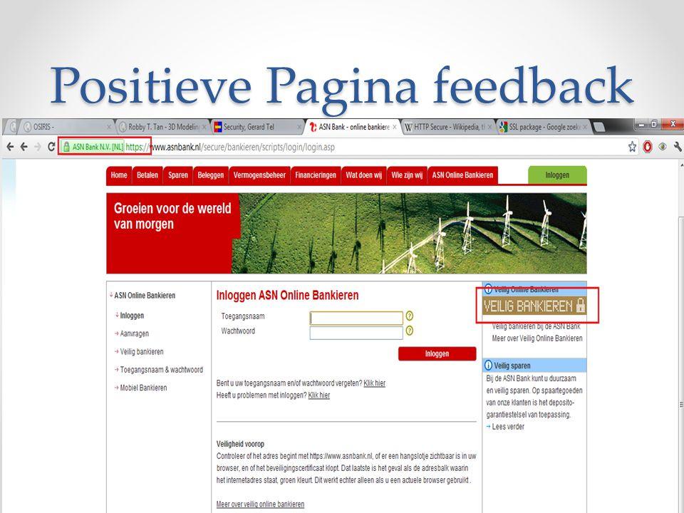 Positieve Pagina feedback