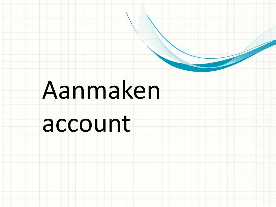Aanmaken account