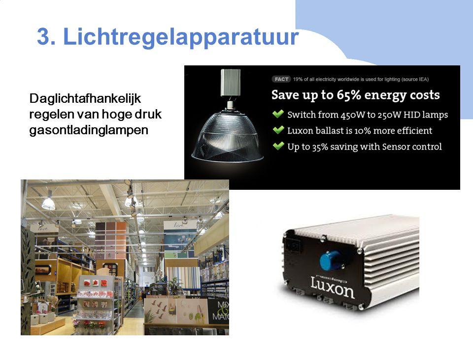 3. Lichtregelapparatuur Daglichtafhankelijk regelen van hoge druk gasontladinglampen
