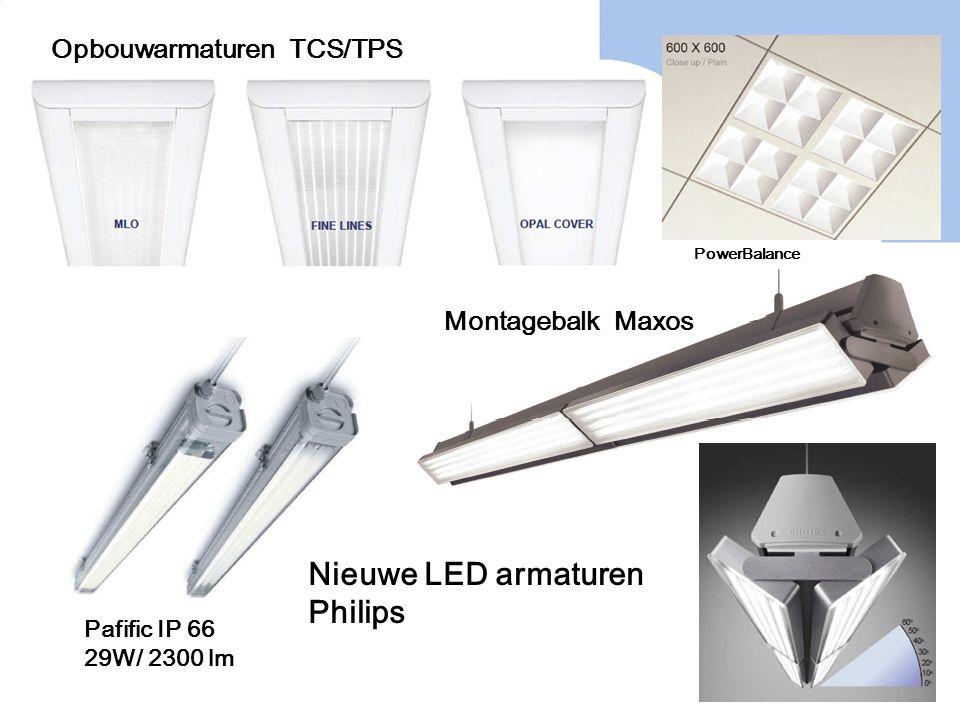 Nieuwe LED armaturen Philips Pafific IP 66 29W/ 2300 lm Montagebalk Maxos Opbouwarmaturen TCS/TPS PowerBalance