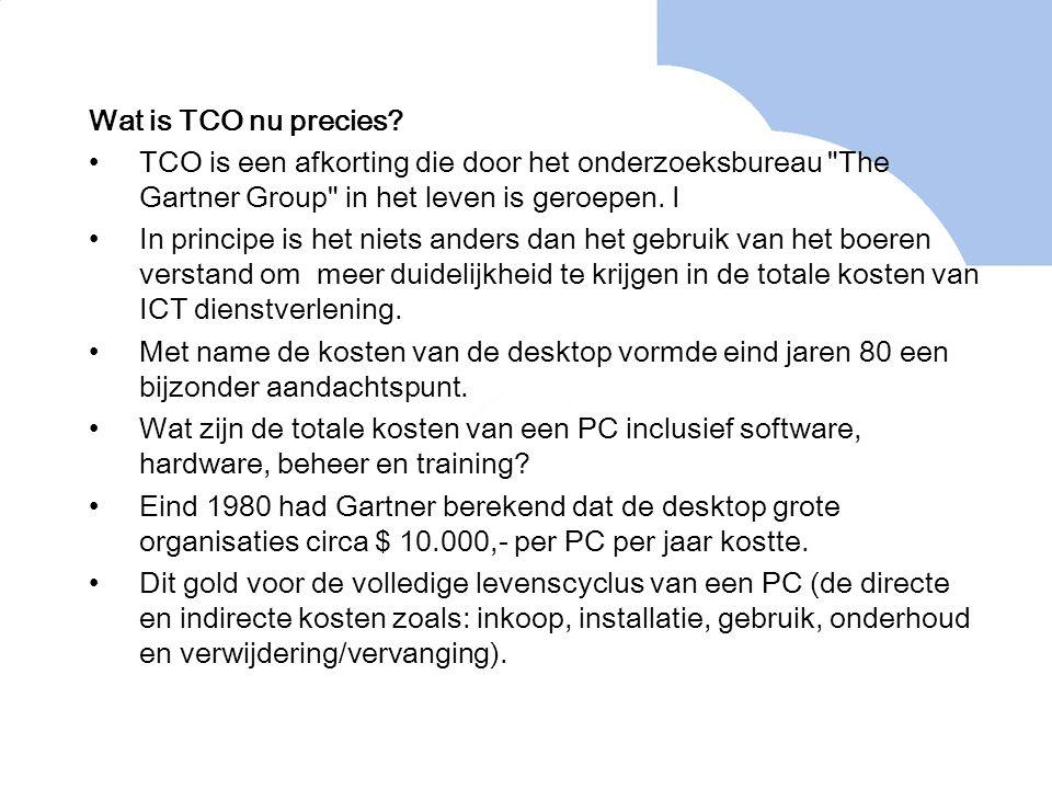 Wat is TCO nu precies? TCO is een afkorting die door het onderzoeksbureau