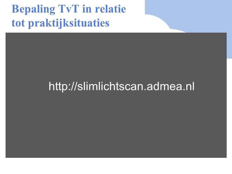 Bepaling TvT in relatie tot praktijksituaties http://slimlichtscan.admea.nl