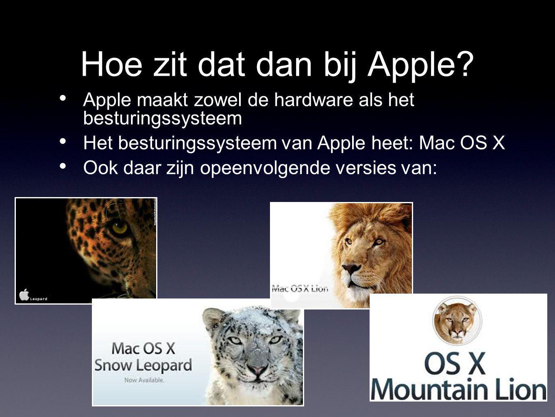 Hoe zit dat dan bij Apple.