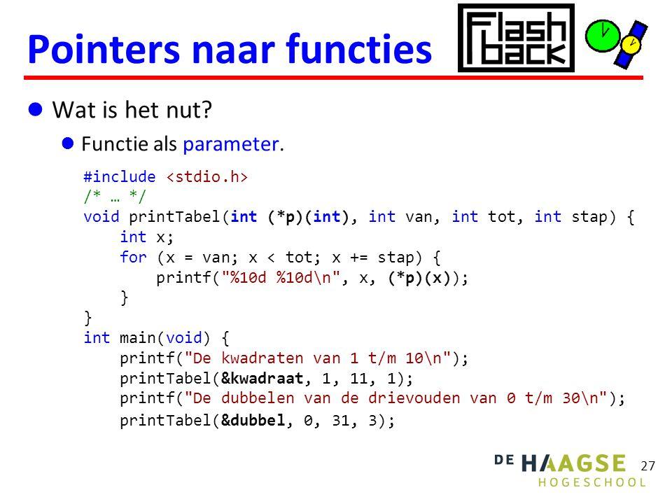 Wat is het nut. Functie als parameter.