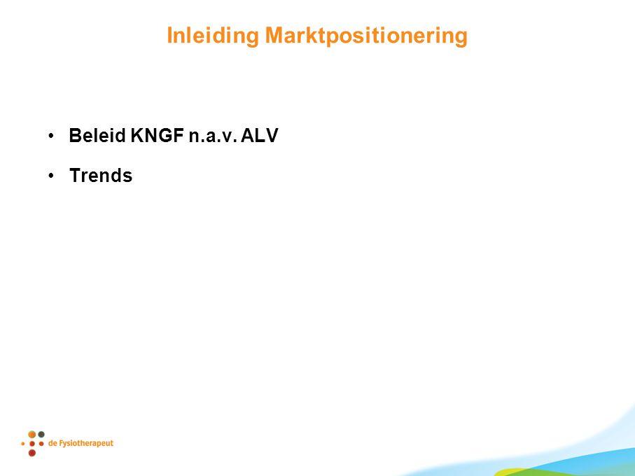 Inleiding Marktpositionering Beleid KNGF n.a.v. ALV Trends