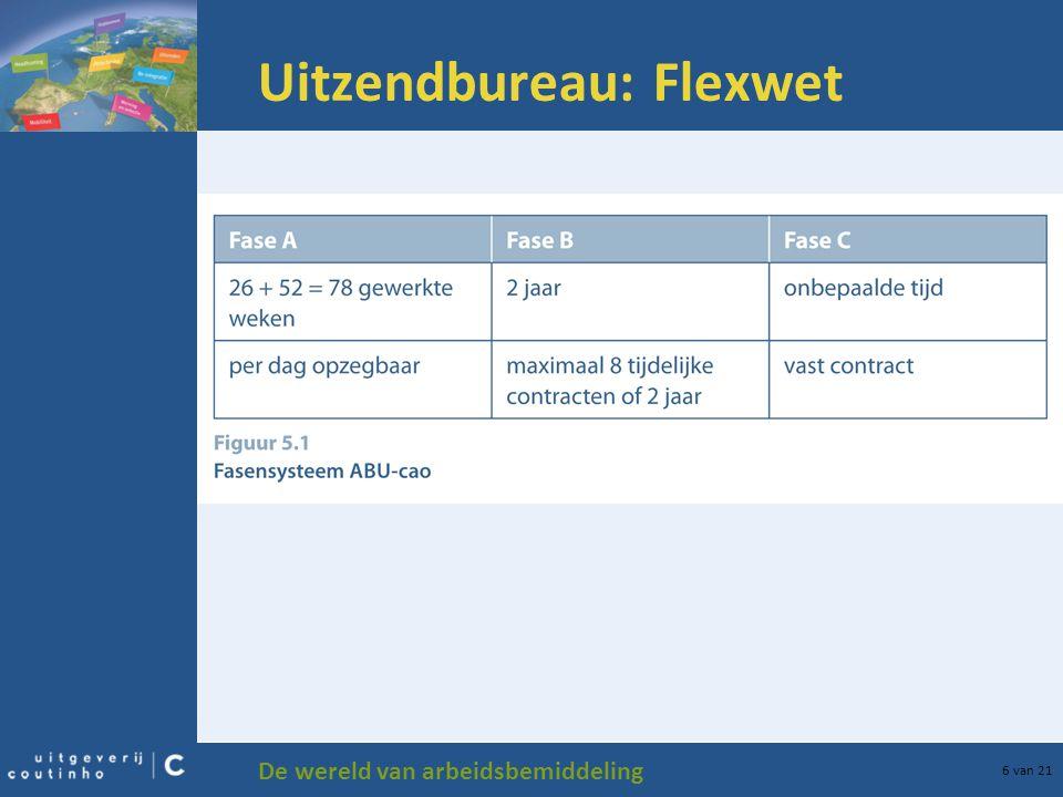 De wereld van arbeidsbemiddeling 6 van 21 Uitzendbureau: Flexwet