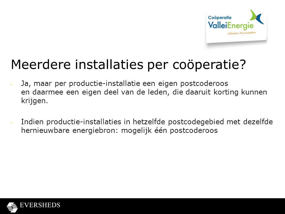 Meerdere installaties per coöperatie.