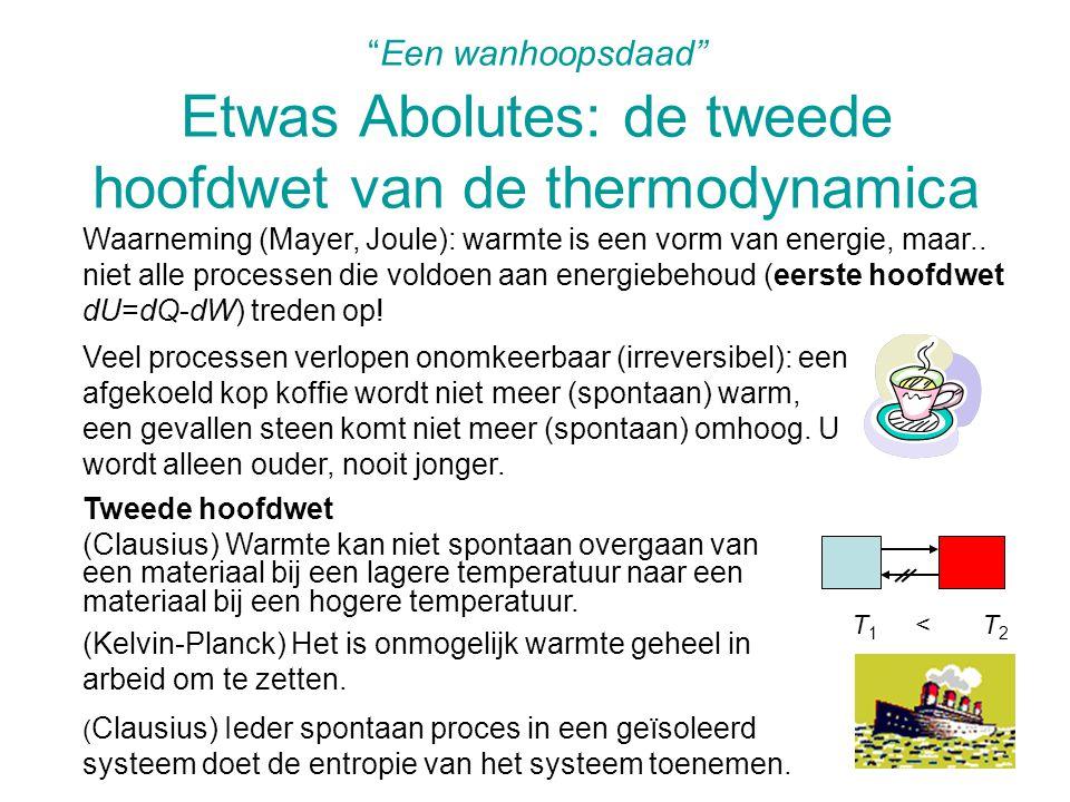 Warmtemachines (stoommachine, benzinemotor, …) doorlopen kringprocessen, waarbij (verbrandings)warmte wordt omgezet in (mechanische) arbeid.