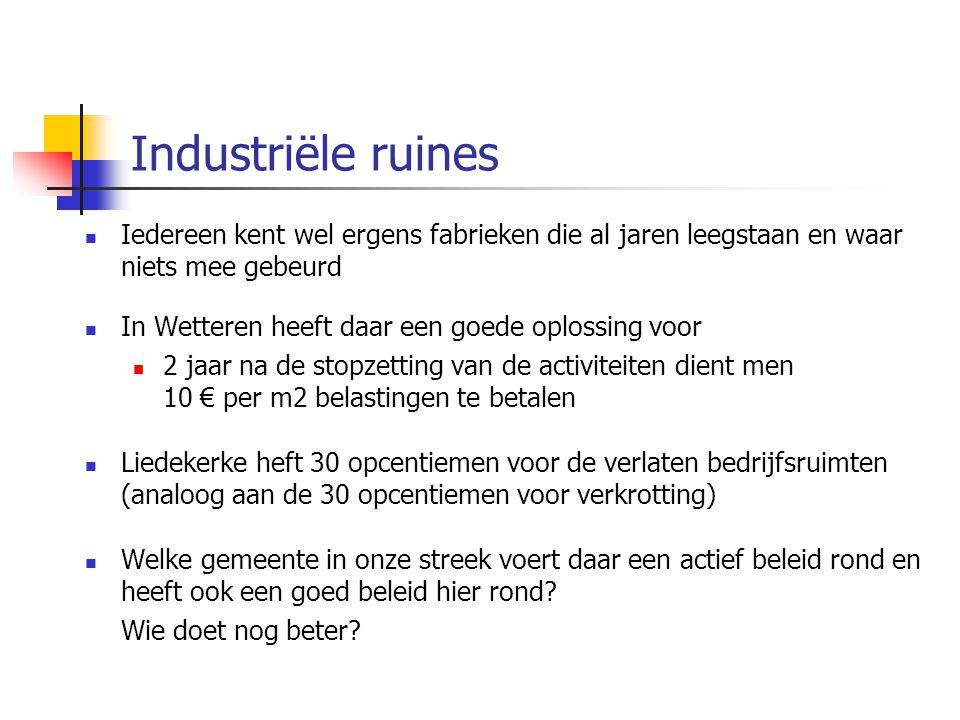 Industriële ruines Iedereen kent wel ergens fabrieken die al jaren leegstaan en waar niets mee gebeurd In Wetteren heeft daar een goede oplossing voor